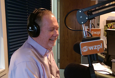 Career Coach Tim Dugger appearing on WZPL %22The Smiley Morning Show%22